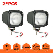 2X 4inch 35W 12V Flood Xenon HID Work Light Off Road ATV Truck Jeep Boat Black