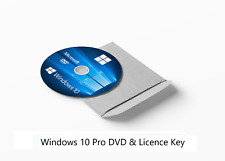 Windows 10 Pro License Key & Bootable 64-bit Installation CD DISC DVD