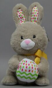 """Cottondale 9 in Animated Tan Brown Plush Singing Bunny """"Easter Time"""" NWT"""