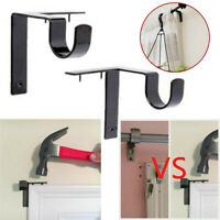2 X Single Hang Curtain Rod Holder Bracket Into Window Frame Curtain Rod Bracket