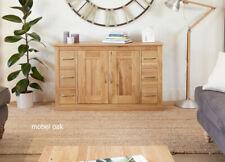 Baumhaus Mobel Oak Six Drawer Sideboard - No Veneers - Solid Oak - Free Delivery
