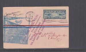 UNITED STATES, 1928 First Flight cover, Tulsa, OK. to Chicago, signed.