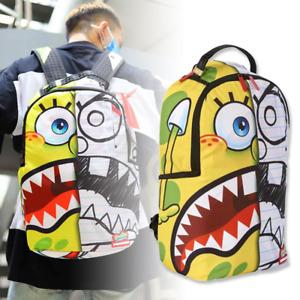 "Sprayground x SpongeBob Spongdoodle Bob Backpack H18.1"" w/ Tag Nylon Japan F/S"