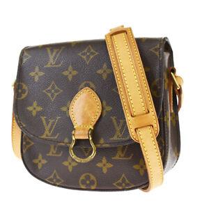 Auth LOUIS VUITTON Mini Saint Cloud Shoulder Bag Monogram Brown M51244 79JC448