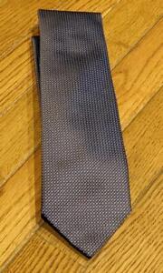 $240 Mens BRIONI Micro Circles Pattern Silk Tie Dark Brown