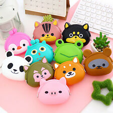 Cute Owl Cat Dog Bear Duck Penguin Animals Shaped Coin Purse Kids Change Wallet