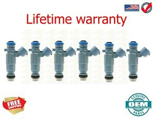 Set Of 6 Flow Matched Fuel Injectors For Genuine Hyundai Kia  3.5L 35310-38010