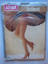 """Strapsstrümpfe Feinstrümpfe Vintage """"ARWA"""" Gr. I 8,5-9,5 PERLE  30 Den"""