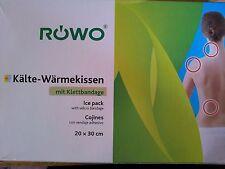 RÖWO Wärmekissen Kältekissen Kälte-Wärmekissen mit Klettbandage 20 x 30 cm