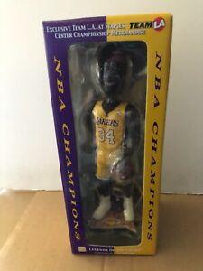 SHAQ O'NEALl  L A Lakers FOCO LE LA Team Exclusive Bobblehead NBA Finals 2002
