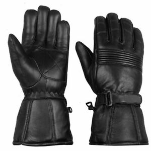 Thermal Motorbike Motorcycle Real Leather Gloves Protection Winter Summer Gloves
