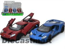 WELLY 24082 2017 FORD GT 1:24 DIECAST MODEL CAR BLUE / RED BRAND NEW GT40