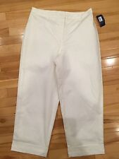 Charter Club Ladies White Dress Pants ~Full Interior Silky Lining Size 12 NWT