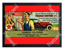 Historic Texaco Motor Oil 1921 Advertising Postcard