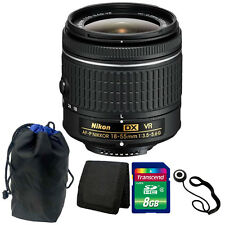 Nikon 18-55mm f/3.5 - 5.6G VR AF-P DX Lens Kit for Nikon D5500 DSLR Camera
