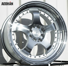 AODHAN AH03 17x9 4x100 / 4x114.3 +25 Silver(PAIR) fitments to work on most cars!