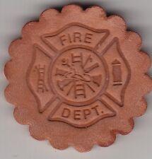 Firefighter's Symbol Crest Stamp. Delrin laser engraved clicker stamp