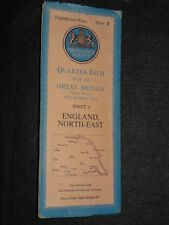 Vintage Ordnance Survey Map of England North East c1952 - Ripon, York, Leeds (3)