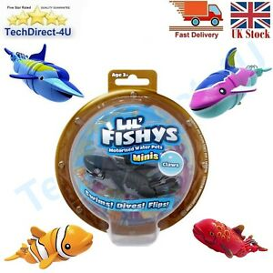 Lil Fishys Motorised Water Pets Swims Dives Flips 7 Fishys To Choose From