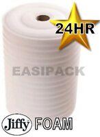 2 Rolls of 1500mm (W)x 200M (Lx 1.5mm JIFFY FOAM WRAP Underlay Carpet Packaging