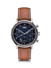 Audi Chronograph Solar Uhr Herrenuhr Armbanduhr Edelstahl blau/braun 3101900100