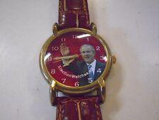 George W Bush President Election Watch Red 2004 Wristwatch Leather Working