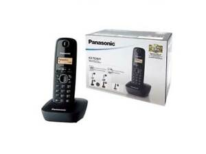 Panasonic KX-TG1611 Telefono Cordless DECT 50 Voci ID Chiamate NERO