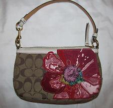 COACH monogram limited edition POPPY applique flower demi clutch bag 6264 WOW!