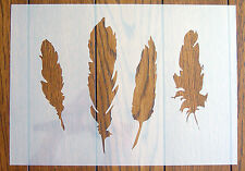 Four Feathers Stencil Reusable Mylar Sheet for Arts & Crafts, DIY