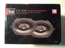 "Dual Electronics DLS574 6""x8"" 4-Way Speakers 160 Watts (Plain Black Version)"