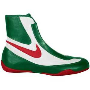 NEW Men's Nike Machomai Mid-Top Boxing Shoes Size: 6.5 Color: Red/White/Green