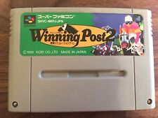 Winning Post 2 SHVC-AWPJ-JPN Nintendo Super Famicom SFC