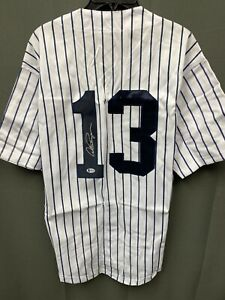 Alex Rodriguez #13 Signed Yankees Baseball Jersey Autographed AUTO BAS COA Sz XL