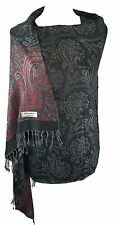 Designer Black Paisley Shawl Scarf Wrap Pashmina Warm Soft SilkyTouch Gift(KC2)