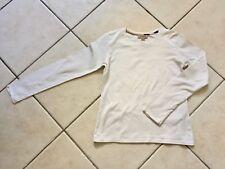 Tee shirt fille en coton écru et Tartan Beige BURBERRY Original Taille 12 ans