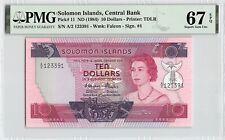 Solomon Islands ND (1984) P-11 PMG Superb Gem UNC 67 EPQ 10 Dollars