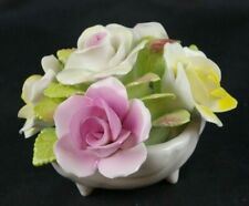 Royal Strafford  Bone China Rose Bouquet Figural Hand Painted Shell Shaped Bowl