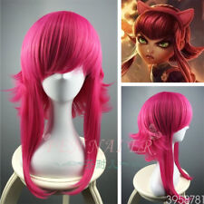 LOL Annie Wig League of Legends Long Rose Cosplay Wigs Anti Alice Hair