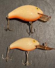 Vintage Rebel Deep Mini R And Maxi R Crankbait Fishing Lures (2)