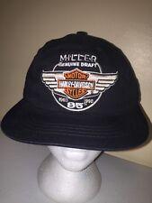 MILLER BEER HARLEY DAVIDSON MOTORS Trucker Hat Baseball Cap Unique Retro Rare S