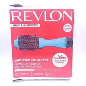 Revlon One-Step Hair Dryer And Volumizer Hot Air Brush Blue New Open Box
