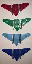 2003 Power Rangers Ninja Storm Wind Flash Gliders Lot Of 4 Bandi Ages 5+