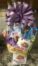 Mother's Day Candy / Snack Gift Basket / Gift Box Wrapped With Purple Bow