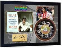 Elvis Presley Aloha from Hawaii SIGNED FRAMED PHOTO CD Disc Perfect gift #3