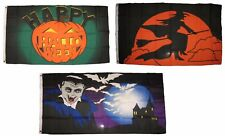3x5 Happy Halloween 3 Pack Flag Wholesale Set #192 Combo 3'x5' Banner Grommets