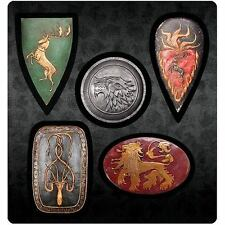 Game of Thrones New * Shield Magnet Set * Stark Lannister Baratheon Greyjoy