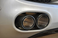 Audi R8 V8 Direct Fit Carbon Fibre Finish Pair of Exhaust End Pipes Tailpipes