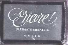 Motivstempel Stempelkissen metallic green grün  Tsukineko Encore Ultimate