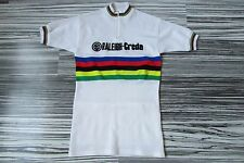 Vintage 70s 80s RALEIGH CREDA ¼ zipp short sleeve cycling jersey maglia shirt