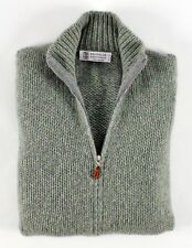 $2575 NWT - BRUNELLO CUCINELLI 100% CASHMERE *THICK* Full Zip Sweater - S / M